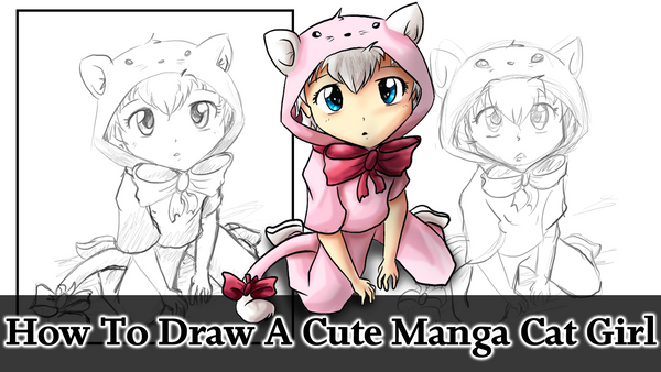How To Draw A Cute Manga Cat Girl By Tailzkip On Deviantart