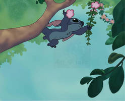 Disney's Stitch art by Tailzkip