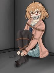 Kidnapped in the basement - Mirai Kuriyama V2 by Shadow-XCP
