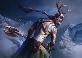 Norse Warrior by JoelChaimHoltzman