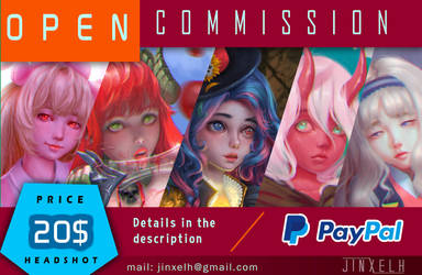 COMMISSIONS OPEN 2018 by Jinxelh