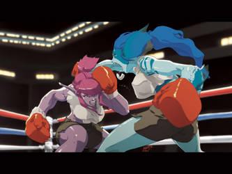 GRRRRLfight by theCHAMBA