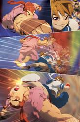 Sakura and Dan by theCHAMBA