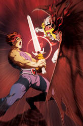 Lion-O VS Mumm-Ra by theCHAMBA
