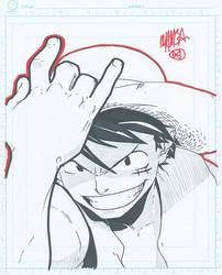 8x10 - Monkey D. Luffy by theCHAMBA