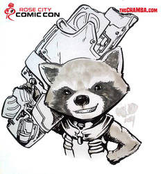RoseCityComicCon2014 - Rocket Raccoon by theCHAMBA