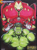 SupanovaMelb2015 - Hulk VS Hulkbuster by theCHAMBA