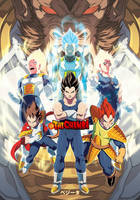 The Evolution of Vegeta by theCHAMBA