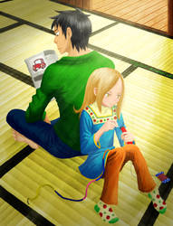 Daikichi and Rin (Usagi Drop) by mangonart