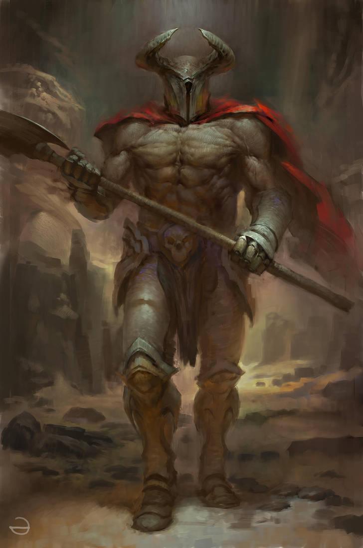 Страх в картинках - Страница 12 Warrior_by_eksrey_d9vvy30-pre