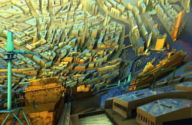 Polygon City - HAMBURG by Polygonist
