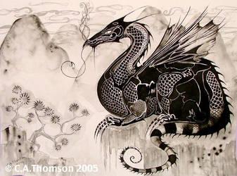 Oriental Gothic Dragon by Didi-Aubergenius
