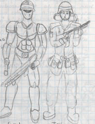 2008-late - Soldiers 1 by IsmaelContreras