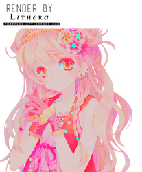 anime girl render by emmersys