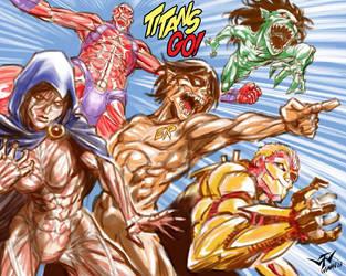 TEEN TITANS GO!!! by batangbatugan