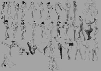 Poses Study by marakov
