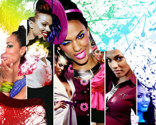 Freema Agyeman's Multiple Personalities by GRAPHICSSEUR