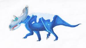 Kosmoceratops sampsoni by PaleoJoe