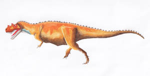Ceratosaurus nasicorni by PaleoJoe