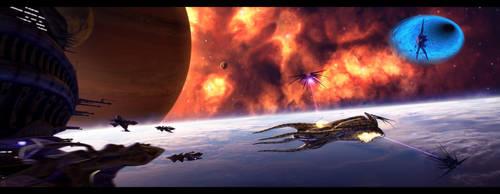 Clash of the Titans by Amras-Arfeiniel