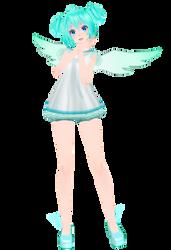 TDA Miku Angel - DL ! by mmd-neko123