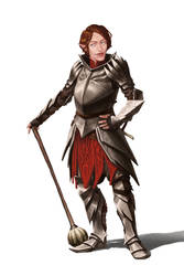 Half-elf Fighter by Tanatalus