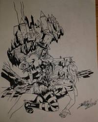 Alice in nightmare land by Josh-Boffa