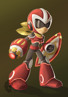 Proto Man [Fully Charged design] by Estefanoida