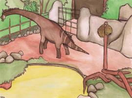 giraffatitan enclosure by halfpennyro04