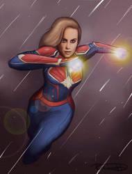 Captain Marvel by halfpennyro04
