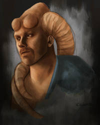 Twilek self portrait by halfpennyro04