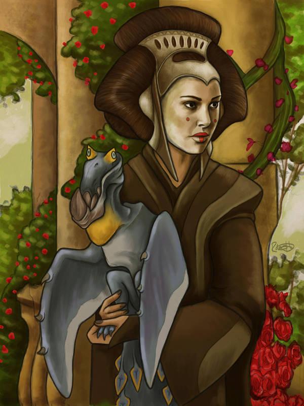 Queen Amidala coronation day portrait by halfpennyro04
