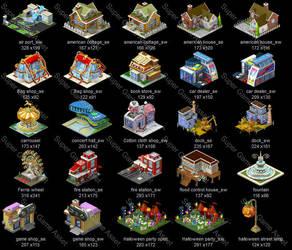 City Builder Set1 01 by yinakoSGA