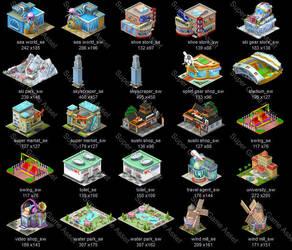 City Builder Set1 03 by yinakoSGA