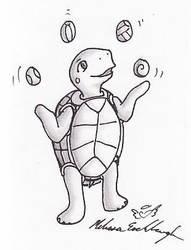 juggling turtle by Adrastia217
