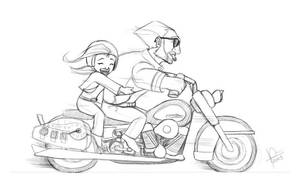 $10 Commish: going for a ride by TheNass