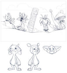 Game project sketches by TheNass