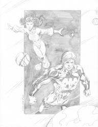 Ultra Boy and Phantom Girl by mtwice