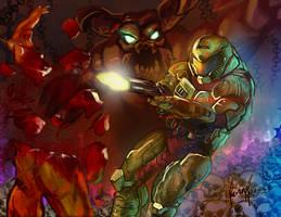 Doom guy by superhermit