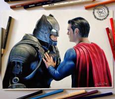 Batman vs Superman by Daviddiaspr