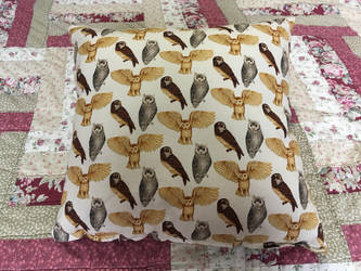 Small owl pillow by WhimsicalSquidCo