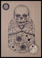 Skull Matrioshka by kharcix