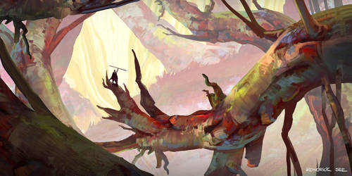 May-Sketch-A-Day - Red Woods by SourShade