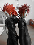 Redhaired brothers, back to back by Miss-Sweetlivvy