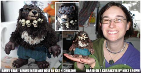 Bantu Bear Original Art Doll by KatCardy