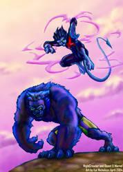 NightCrawler and Beast by KatCardy