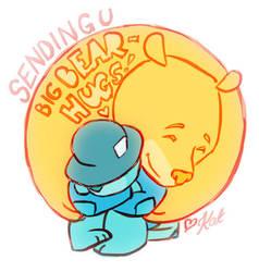 Bear hugs! by KatCardy