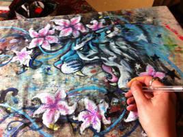Lily Tiger WIP 2 by KatCardy