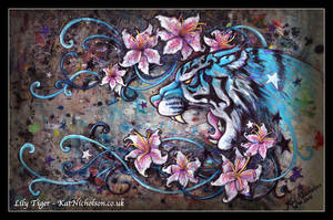 Lily Tiger - Apron Painting by KatCardy