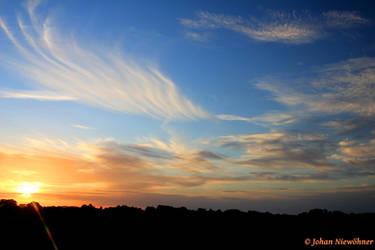 Sunset over Bretteville by jochniew